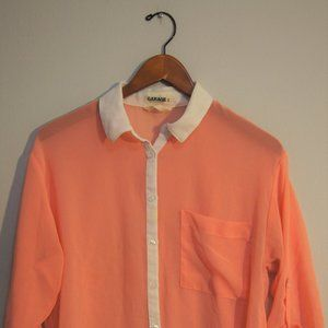 Garage Salmon Pink Chiffon Blouse